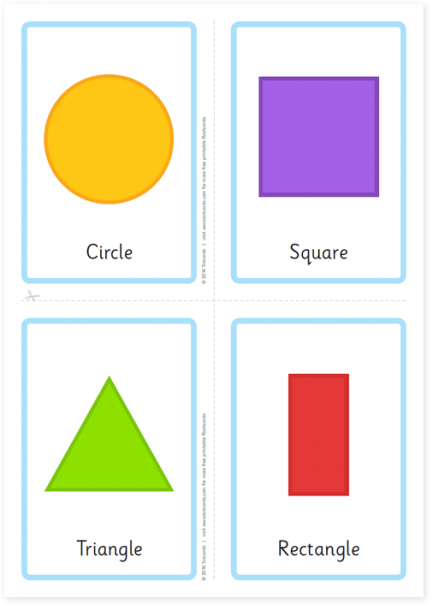 Free Shape Flashcards For Kids