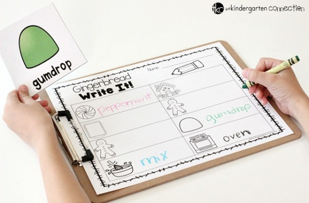 Free Gingerbread Write The Room Activity
