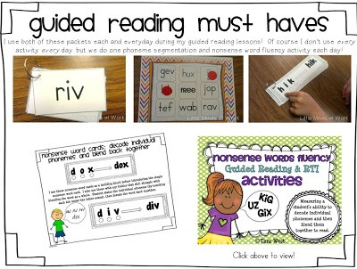 Kindergarten Guided Reading Daily 5 Block! All In One Post