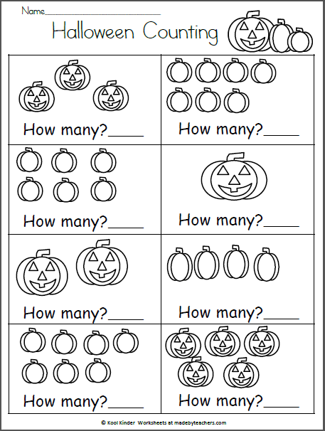 Halloween And Math Worksheets