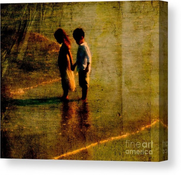 His Kindergarten Sweetheart Canvas Print   Canvas Art By Susanne