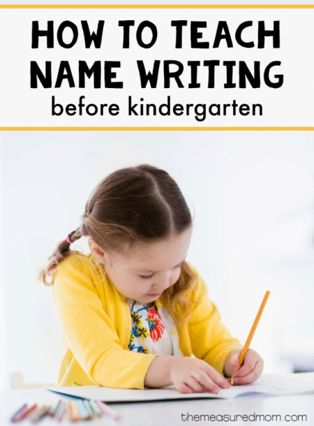 A Simple Way To Practice Name Writing Before Kindergarten