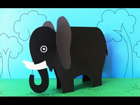 Fun Crafts For Kids   How To Make A Paper Elephant Crafts
