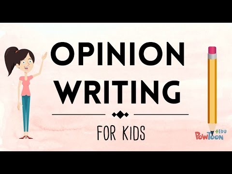 Opinion Writing For Kids