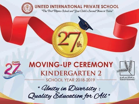 27th Moving Up Ceremony Kindergarten 2 School Year 2018