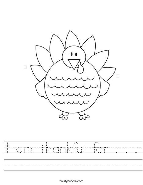 I Am Thankful For Worksheets Kindergarten I Am Thankful For