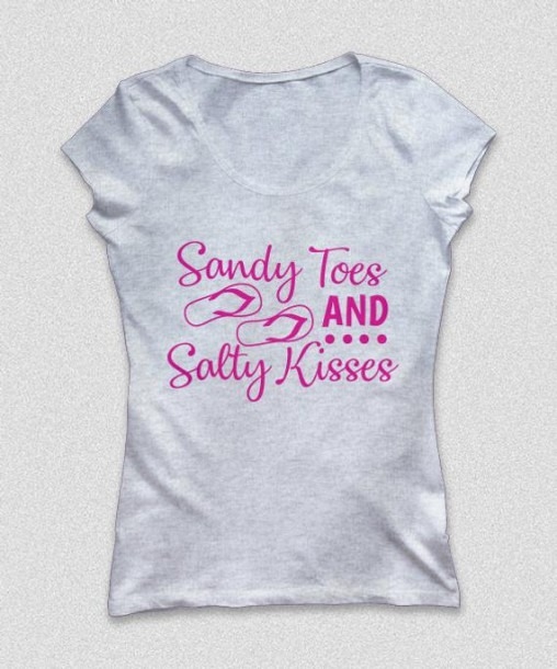 Sandy Toes And Salty Kisses Svg Summer Svg Sayings Svg