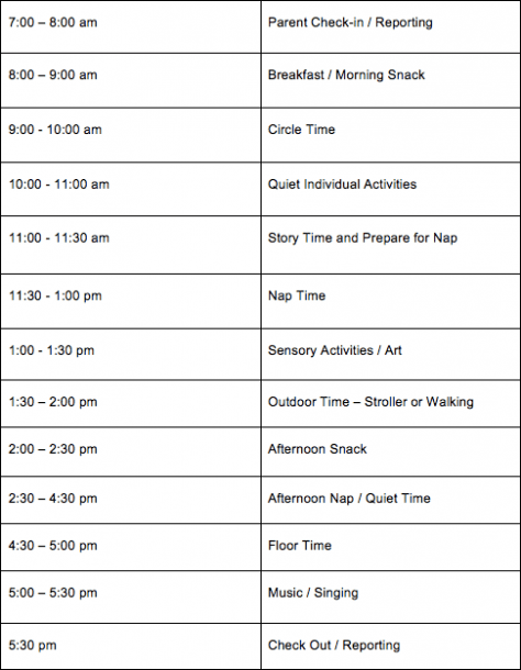 Daily Daycare Schedules For Infants, Toddlers & Preschoolers