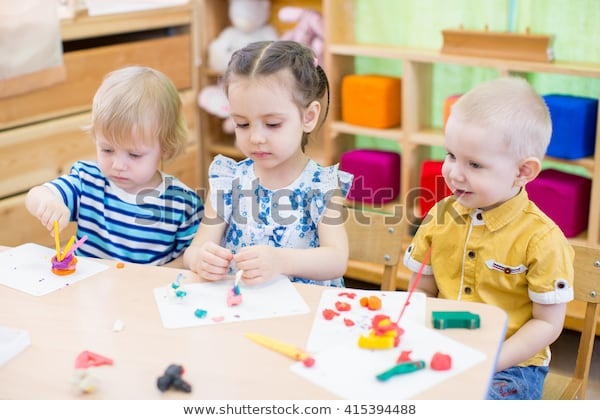 Kids Learning Arts Crafts Kindergarten Stock Photo (edit Now