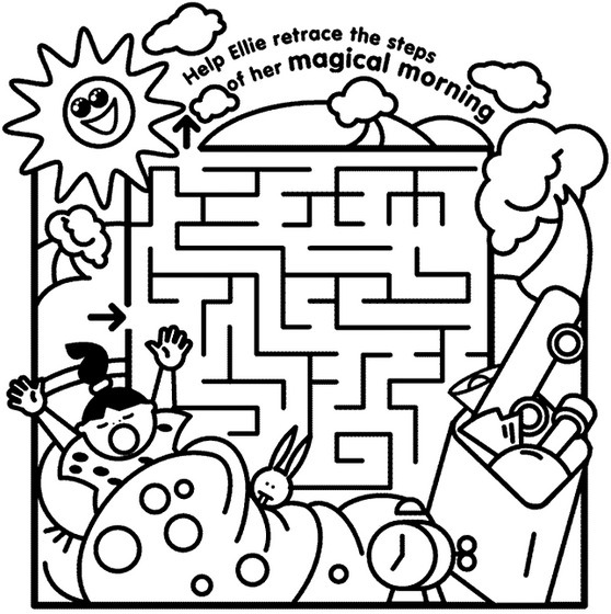 Kids Maze Coloring Page Coloring Page & Book For Kids