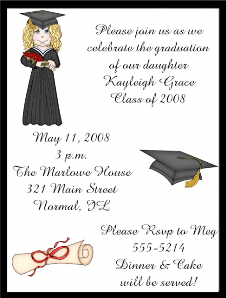 Kindergarten Graduation Invitation Wordi  433624