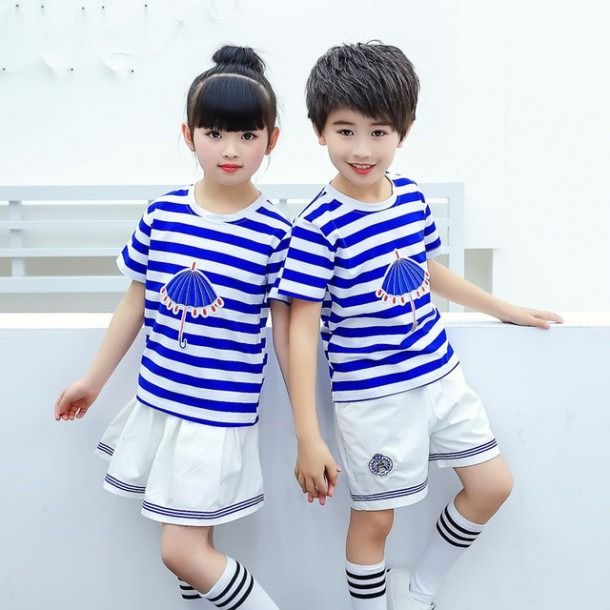 Kindergarten Summer School Clothing Primary School Uniforms Blue