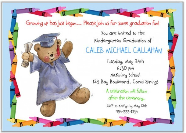 Kindergarten Preschool Graduation Invitations