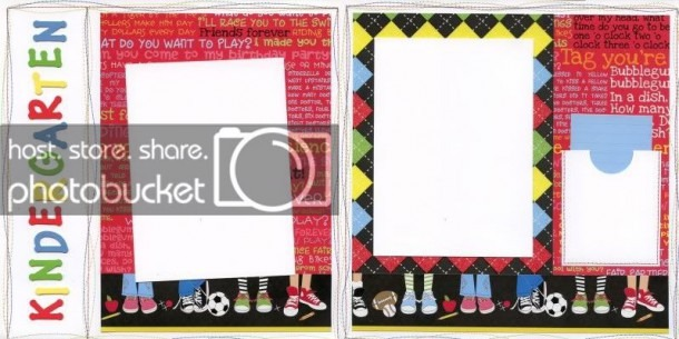 Scrapbooking For Others  Kindergarten Premade Scrapbook Pages