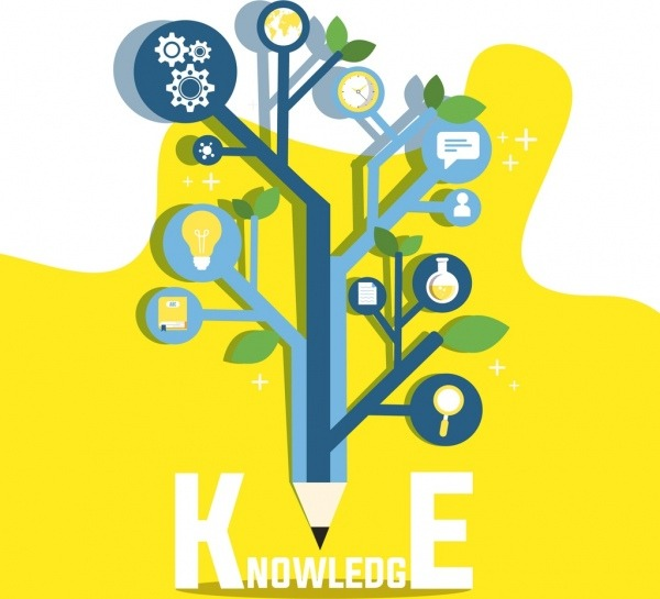 Knowledge Conceptual Background Pencil Tree Education Icons Free