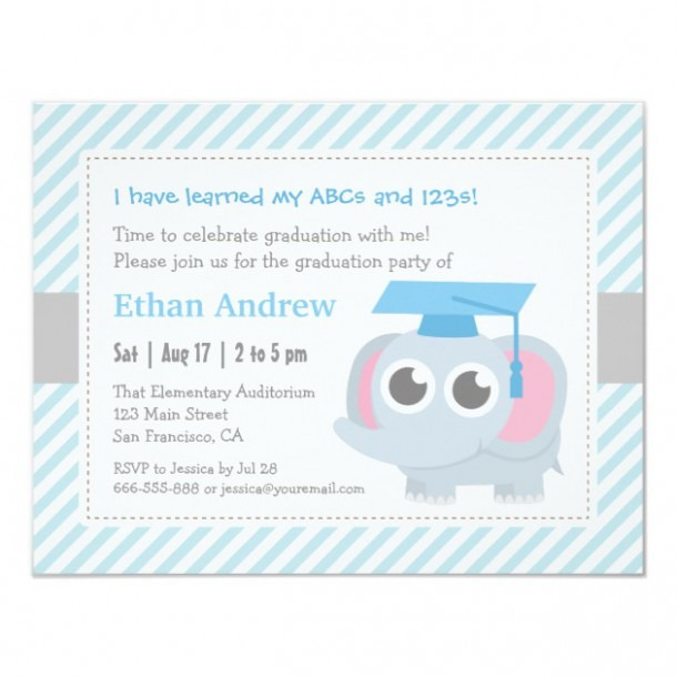 Personalized Kindergarten Graduation Invitations