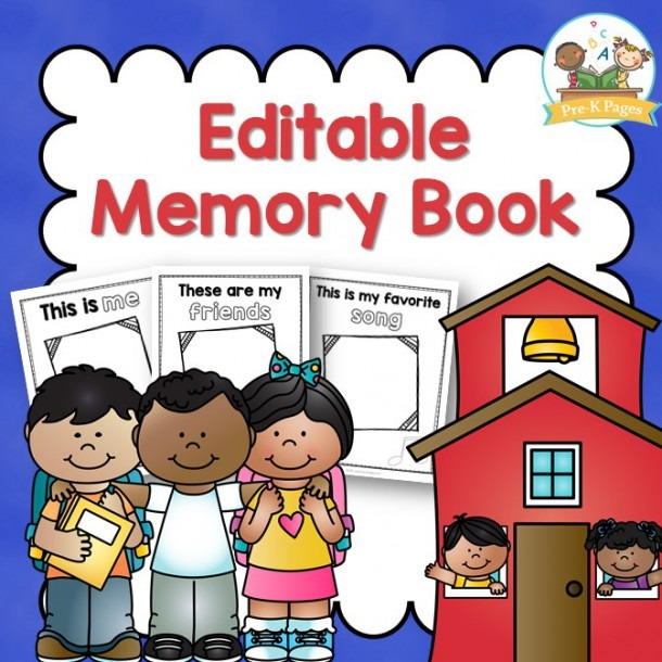 Preschool Memory Book Printable For The End Of Year