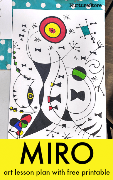 Joan Miró Art Lesson For Children With Free Printable