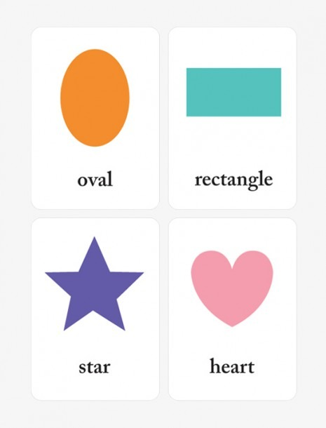 Printable Shapes Flash Cards For Preschool Learning