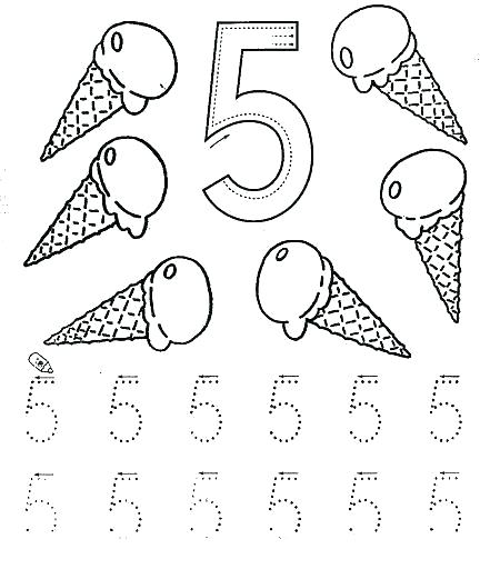 Printable Number 5 Tracing Worksheets – Andbeyondshop Co