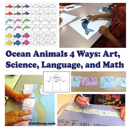 Ocean Animals 4 Ways  Science, Language, Math, And Art For