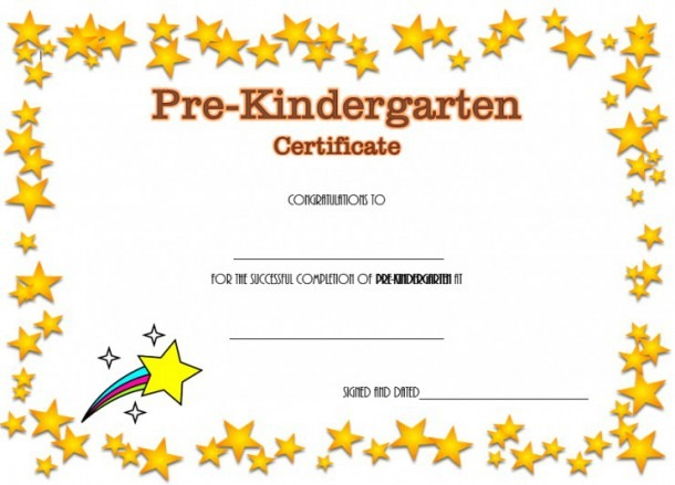 Pre K Diploma Certificate Editable 10 Great Templates