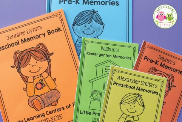 How To Make A Preschool Memory Book  A Perfect End Of Year