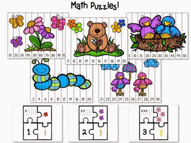 Playful Puzzles! Math And Literacy Practice [with A Freebie