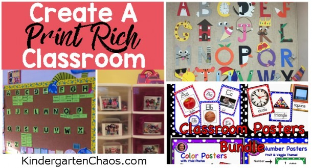 Ideas For Creating A Print Rich Environment In The Classroom