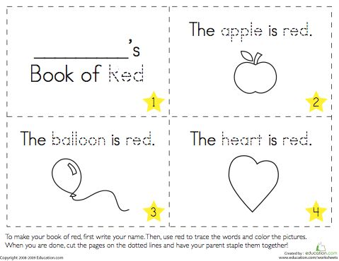 Printable Kindergarten Book (90+ Images In Collection) Page 1