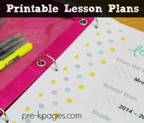 Printable Lesson Plans For Preschool, Pre