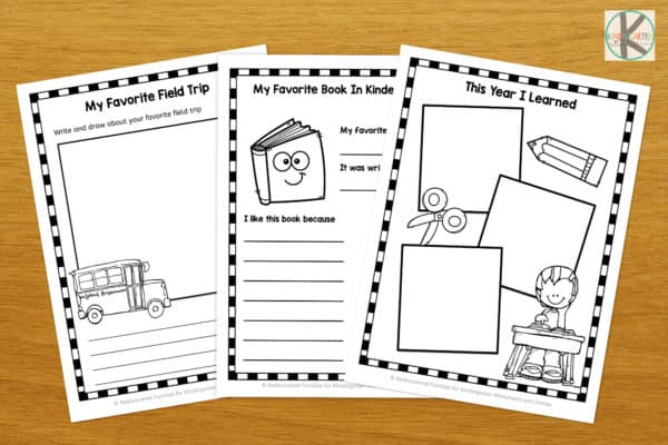 Free Kindergarten Memory Book – Kindergarten Worksheets And Games
