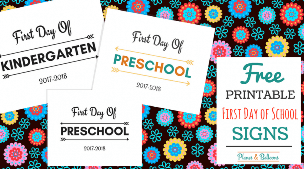 First Day Of School Printable Free 2017