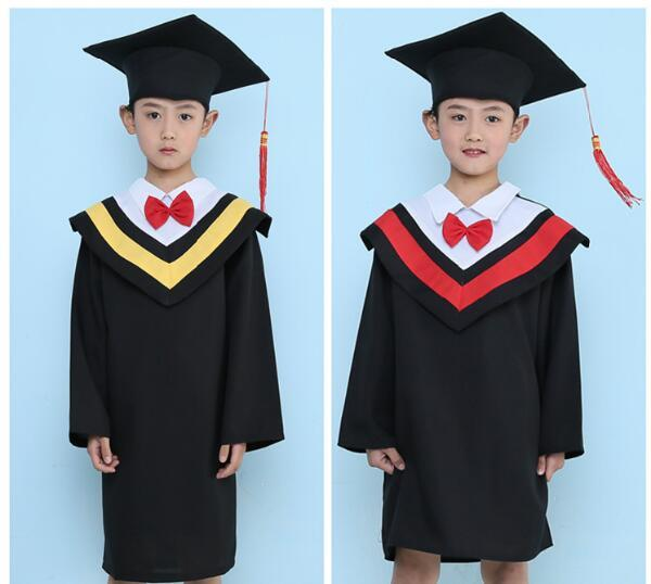 2019 Kids Primary School Graduation Gown With Hat Performance