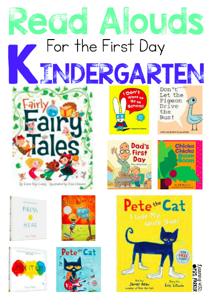Read Alouds For The First Day Of Kindergarten