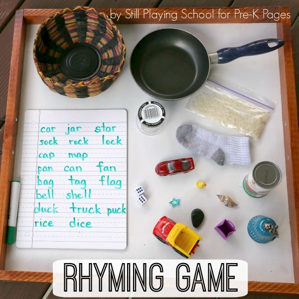 Words That Rhyme With  A Fun Preschool Game