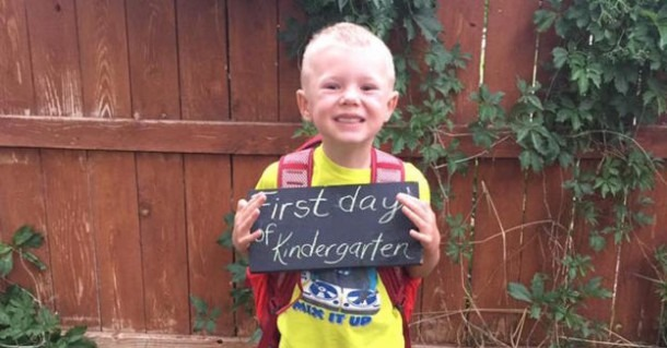 Today Was My Son's First Day Of Kindergarten — And His First
