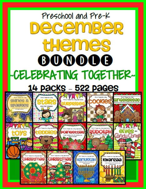 December Curriculum Themes Bundle For Preschool And Pre