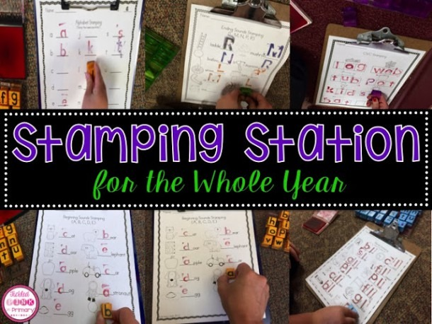 Kindergarten Stamping Center With A Freebie • Tickled Pink In Primary