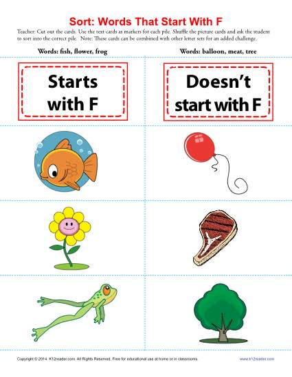 Words Starting With F
