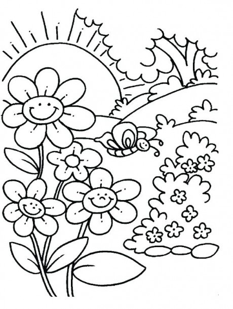 Spring Coloring Pages For Toddlers – Pasosvendrell Com