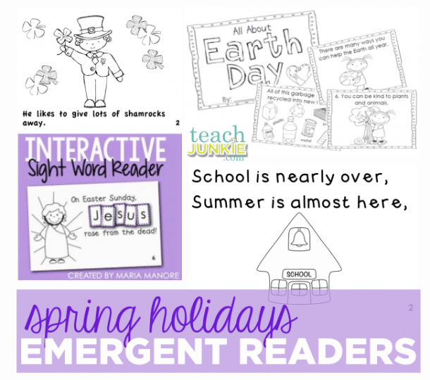 52 Free Emergent Readers For All Year Long