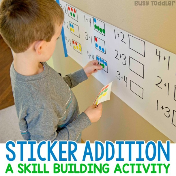 Dot Sticker Addition  A Fun Math Activity