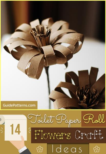 14 Toilet Paper Roll Flowers Craft Ideas