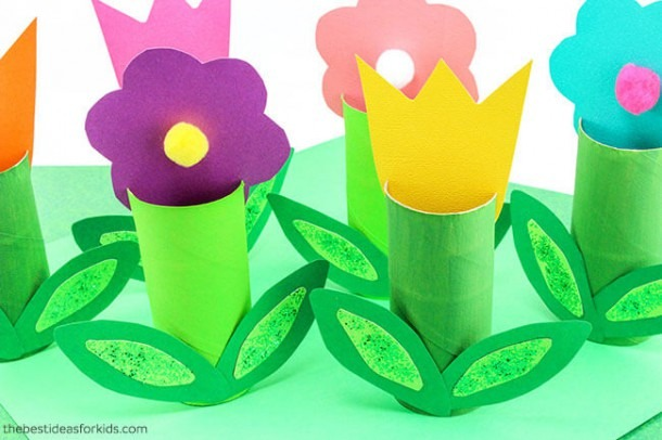 Toilet Paper Roll Flowers Craft