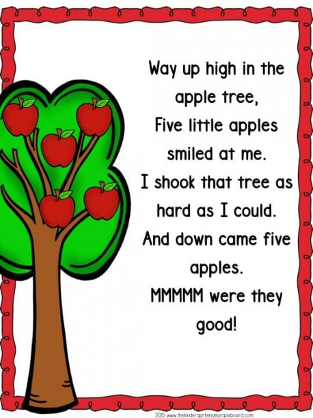 Way Up In The Apple Tree Apple Poem 001