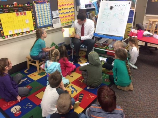 Rep  Gooman Returns To Cardington To Read To Kindergarten, Third