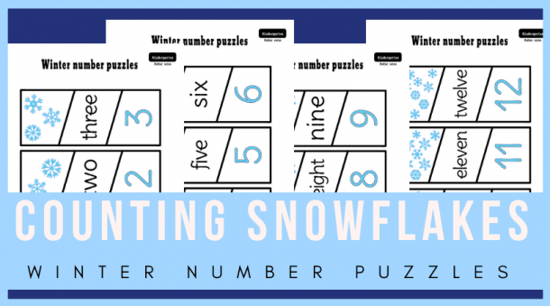 Winter Math Activities For Kindergarten  Counting And Matching