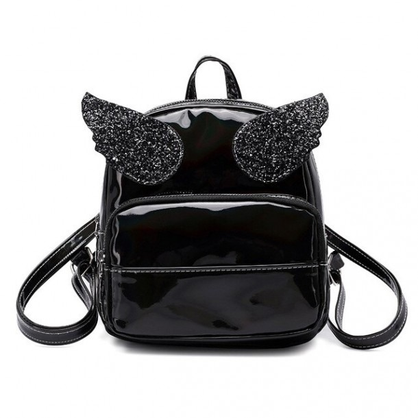Womens Backpack Bag Pu Leather Wing Sequins Women Bag High Quality