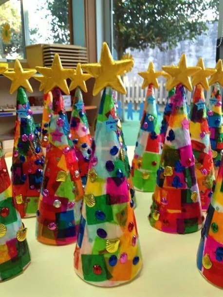 Tissue Paper Christmas Trees! Love These Cute Kids Crafts  Fun